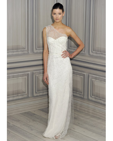 Happy Wedding Dress Wednesday This week 39s one shoulder gown by Monique